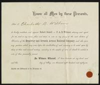 Legal document regarding Charlotte Beebe Wilbour, 1886-05