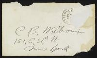 Letter from Matilda Joslyn Gage to Charlotte Beebe Wilbour, 1873-02-03