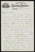 Letter from R.M. Richardson to J.L. Hull, 1873-04-10