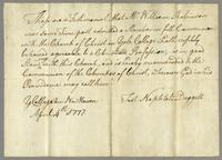 Certificate from President Daggett, Apr 4, 1777