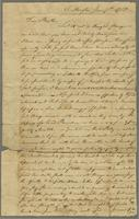 June 7, 1780. Mr. John Robinson, Lebanon. To the care of John Curtiss Esqr, member of Assembly at Hartford.
