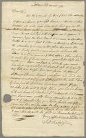 Lebanon, 23d March 72 [1772]. To Mr. William Robinson, student at Yale College in New Haven