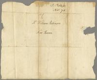 L. Robinson, Novr 75 [1775]. To Mr. William Robinson New Haven