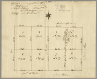 The whole amount of land in the annexed plan from actual survey is 1300 16/100 acres by Alfred Wolcott, Surveyor. Copy made Apl 18th, 1818
