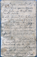 Page from a diary, June 10 - 17, 1774