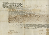Deed issued by Samuel Jones and others to Enoch Forten