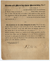 Agreement between A.S. Norton and the Trustees of Hamilton Oneida Academy