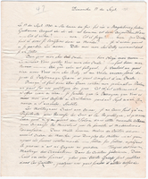 Letter from Baron von Steuben to General William North, September 17, 1786