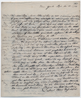 Letter from Baron von Steuben to General William North, September 10, 1788
