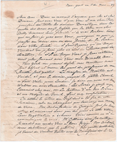 Letter from Baron von Steuben to General William North, November 11, 1789