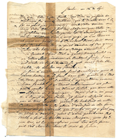Letter from Baron von Steuben to a friend, September 12 [no year]