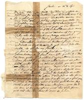 Letter from Baron von Steuben to a friend, September 12 [no year] [original]