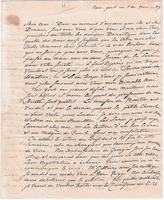Letter from Baron von Steuben to General William North, November 11, 1789 [original]