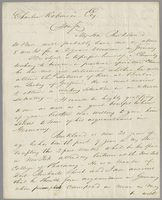 Hartford, Aug. 18th 1845. Charles Robinson Esq., dear sir, my son Buckland W. Bull will probably leave me in about 8 weeks