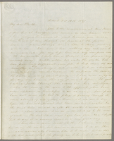 Detroit, Oct. 12th 1847. Rev. Edward Robinson D.D., New York