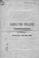 Hamilton College commencement. Wednesday, July 28th, 1847.