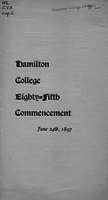 Hamilton College eighty-fifth commencement, June 24th, 1897