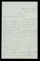 Letter from Daisy to a friend on September 6, 1875 from Cazenovia, New York