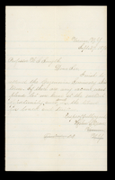 Letter from Helen S. Dean to Professor W.S. Smyth on September 27, 1875 from Vernon, New York; includes a note to Miss Qastinarl? And one to Nettie from Nelly on September 27, 1875 from Hampton, New York