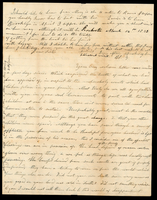 Letter from Hanna Griffin to her sister Lucinda Dean on March 12, 1843 from Rochester, New York