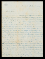 Letter from Hanna Griffin to her sister Lucinda Dean on July 10, 1848 from Rochester, New York