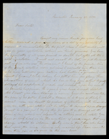 Letter from Hanna Griffin to her sister Lucinda Dean on January 21, 1850 from Rochester, New York