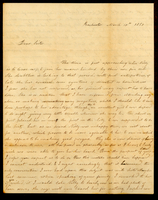 Letter from Hanna Griffin to her sister Lucinda Dean on March 10, 1850 from Rochester, New York