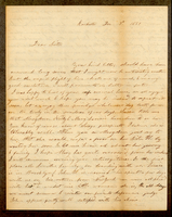 Letter from Hanna Griffin to her sister Lucinda Dean on December 7, 1851 from Rochester, New York