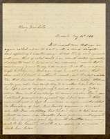 Letter from Hanna Griffin to her sister Lucinda Dean on May 14, 1852 from Rochester, New York [includes letter from M. Louisa Dean to her aunt]