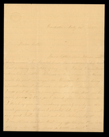 Letter from Hanna Griffin to her sister Lucinda Dean on July 22, 1855 from Rochester, New York