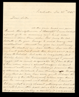 Letter from Hanna Griffin to her sister Lucinda Dean on December 28, 1856 from Rochester, New York