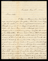 Letter from Hanna Griffin to her sister Lucinda Dean on June 9, 1860 from Rochester, New York