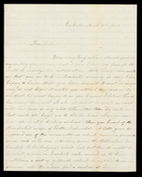 Letter from Hanna Griffin to her sister Lucinda Dean on March 21, 1855 from Rochester, New York