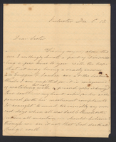 Letter from Hanna Griffin to her sister Lucinda Dean on December 1, [18XX]. from Rochester, New York