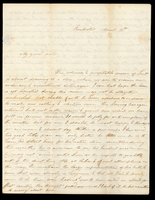 Letter from Hanna Griffin to her sister Lucinda Dean on April 11 [18XX] from Rochester, New York