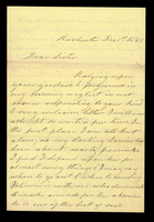 Letter from Hanna Griffin to her sister Lucinda Dean on December 1, 1861 and December 9, 1861 from Rochester, New York