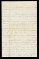 Letter from Hanna Griffin to her sister Lucinda Dean on August 2, 1857 from Rochester, New York