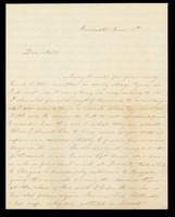 Letter from Hanna Griffin to her sister Lucinda Dean on June 5 [18XX] from Rochester, New York