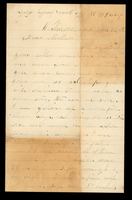 Letter from George Dean to his mother, Lucinda Dean, on January 22, 1865 from Westmoreland, New York