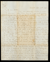 Letter from Charlotte to her mother, Lucinda Dean, on September 30, 1842 from Catzkill, New York