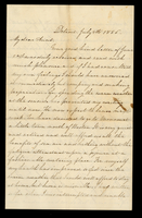 Letter from Susan M. Hale to her aunt Lucinda Dean on July 4, 1856 from Detroit, Michigan
