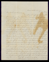 Letter from Susan M. Hale to her uncle and aunt, John and Lucinda Dean, on October 31, 1842 from Detroit, Michigan