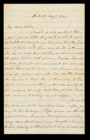 Letter from T. C. Chittenden to his sister Lucinda Dean on August 9, 1864 from Detroit, Michigan