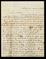 Letter from Ellen to her mother, Lucinda Dean, on March 14, 1854 from Liverpool, Illinois