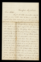 Letter from Hiram James Graham to his mother [in-law] Lucinda Dean on May 14, 1854 from Liverpool, Illinois