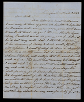 Letter from Ellen D. Graham to her mother, Lucinda Dean, on November 2, 1854 from Liverpool, Illinois