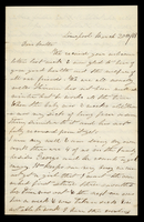 Letter from Ellen D. Graham to her mother, Lucinda Dean, on March 20, 1855 from Liverpool, Illinois
