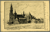 Anvers - La Cathedrale en 1700
