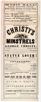 The original and only Christy's Minstrels and the great comic artiste George Christy