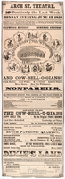 Arch St. Theatre : Positively the last week Monday evening, June 13, 1859 ... Morris Bro's Pell & Trowbridge's minstrels and cow-bell-o-gians!!